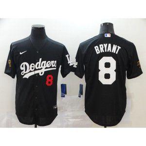 LA Dodgers #8 Kobe Bryant Black Jersey
